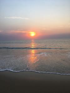 Lumley Beach sunset