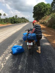Motorbike breakdown on the way to Bo
